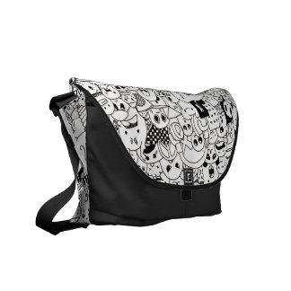 Cute Doodle Messenger Bag Messenger Bags