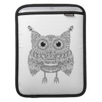 Cute Doodle Owl Sleeve For iPads