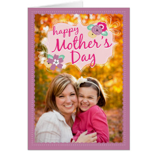 Cute Doodles Mother s Day Photo Card