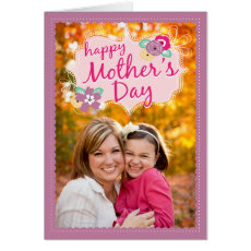 Cute Doodles Mother's Day Photo Card