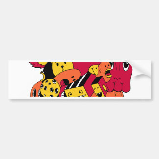 cute doodls bumper sticker