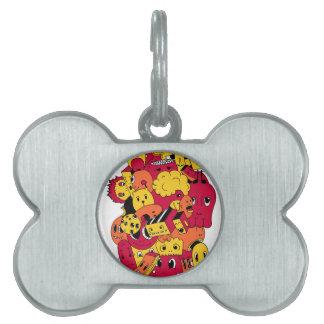 cute doodls pet ID tag