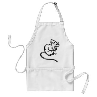Cute Door Mouse Adult Apron