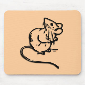 Cute Door Mouse Guards this Mouse Pad