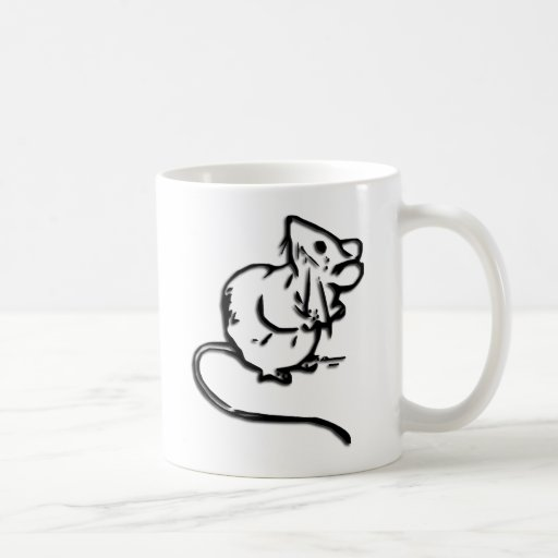 Cute Door Mouse Coffee Mug