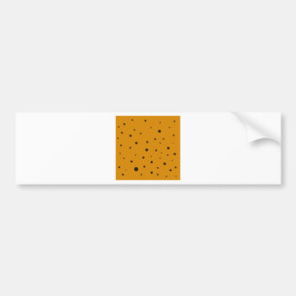 Cute dots on Gold Bumper Sticker