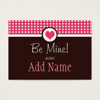 Cute Dots Personalized Valentine's Note Card