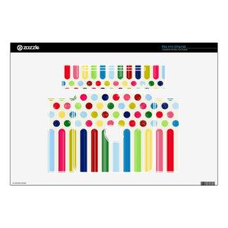 """Cute """"Dots vs Stripes"""" Design Mac Mini Skins"""