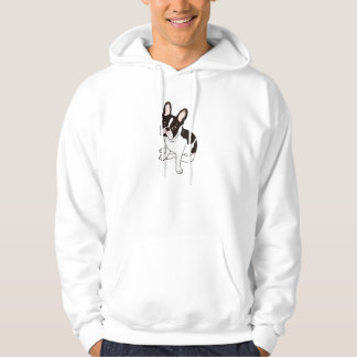 Cute double hooded pied French Bulldog Hoodie