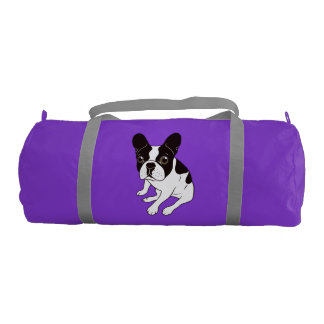 Cute double hooded pied Frenchie is chilling Gym Bag