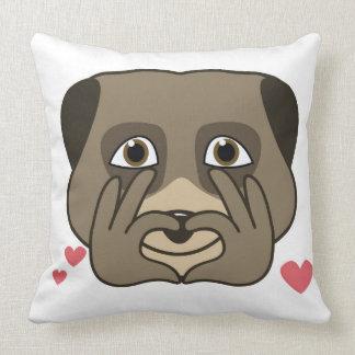 Cute double meerkat design, cartoon style. throw pillow