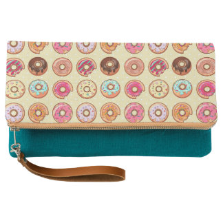 Cute Doughnut Pattern Clutch