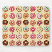 Cute Doughnut Pattern Mouse Pad