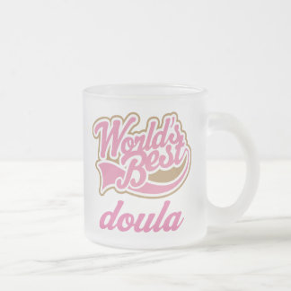 Cute Doula Frosted Glass Coffee Mug