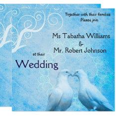 Cute Doves Square Wedding Invitation at Zazzle