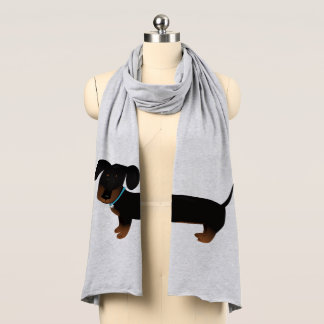 Cute Doxy Dog Black and Tan Scarf