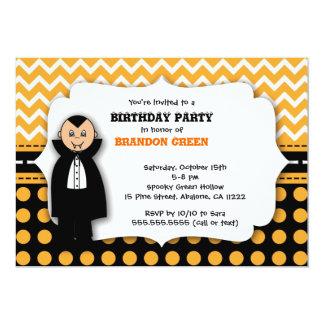 cute Dracula  Halloween Birthday Party Invitation