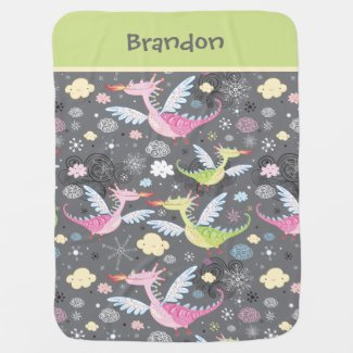 Cute Dragon Baby Blanket