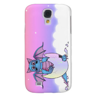 Cute Dragon Baby in Cracked Egg - Blue / Purple Samsung Galaxy S4 Cover