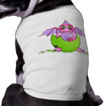 Cute Dragon Baby in Cracked Egg - Pink / Purple Pet T Shirt