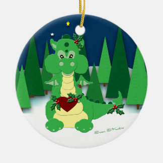 Cute Dragon: Baby's 1st Christmas: 2010 Ceramic Ornament