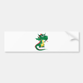 Cute Dragon Bumper Sticker