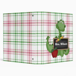 Cute Dragon Custom Teacher Gift Binder