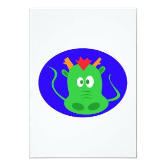 Cute Dragon Face Card