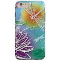 Cute Dragon Fly Pretty Summer Colors Modern Floral Tough iPhone 6 Plus Case