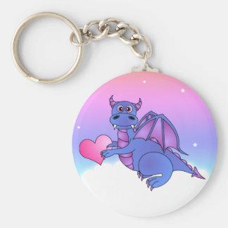 Cute Dragon Heart Keychain