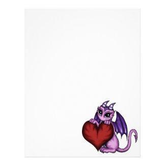 cute Dragon heart Letterhead