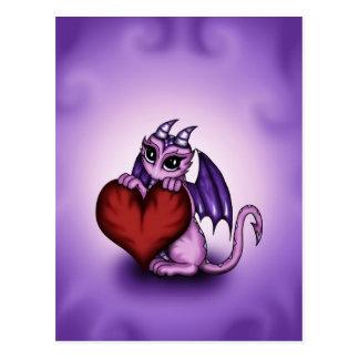 cute Dragon heart Postcard