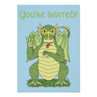 Cute Dragon Invitations