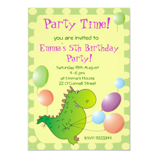 Cute Dragon Kids Party Invitation,Children's Party