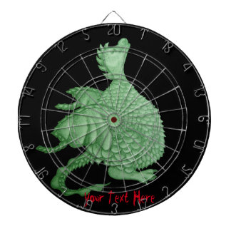 cute dragon mythical and fantasy creature art dartboard with darts