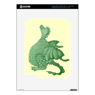 cute dragon mythical and fantasy creature art decal for iPad 3