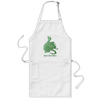 cute dragon mythical and fantasy creature art long apron