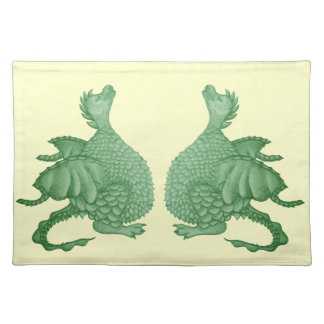 cute dragon mythical and fantasy creature art place mats