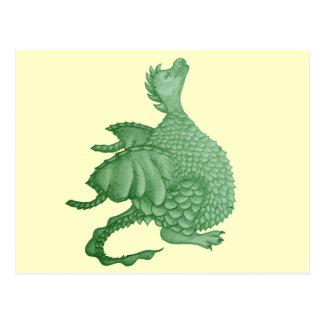 cute dragon mythical and fantasy creature art postcard