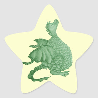 cute dragon mythical and fantasy creature art star sticker