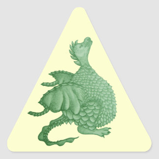 cute dragon mythical and fantasy creature art triangle sticker