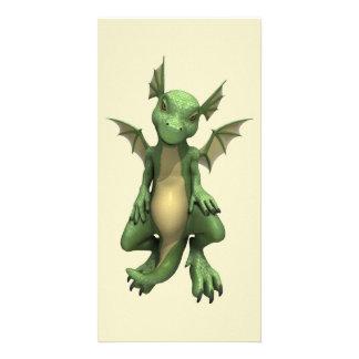 Cute Dragon Photo Card Template