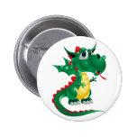 Cute Dragon Pinback Buttons
