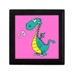 cute dragon puffing smoke rings cartoon keepsake boxes