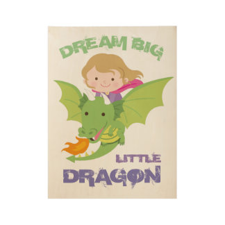 Cute dragon wall art poster for girls
