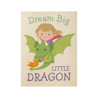 Cute dragon wall art poster for girls