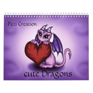 cute Dragons Calendar
