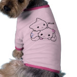 Cute Drawing of Boy and Girl Kitten in Love Dog Tshirt