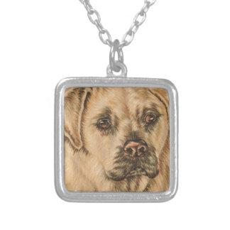 Cute Drawing of White Lab Puppy Dog Custom Jewelry