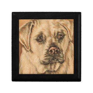 Cute Drawing of White Labrador Dog Keepsake Box